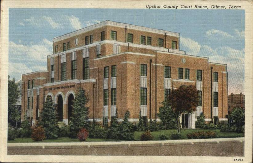 upshur courthouse postcard
