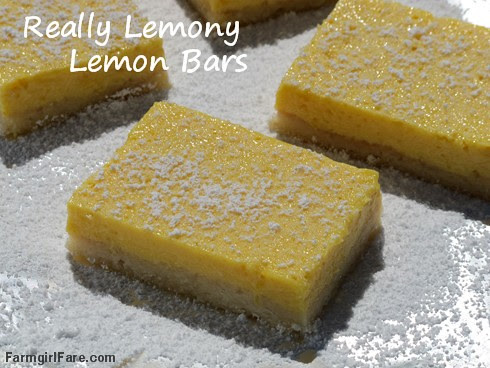 Really Lemony Lemon Bars (1) FarmgirlFare.com