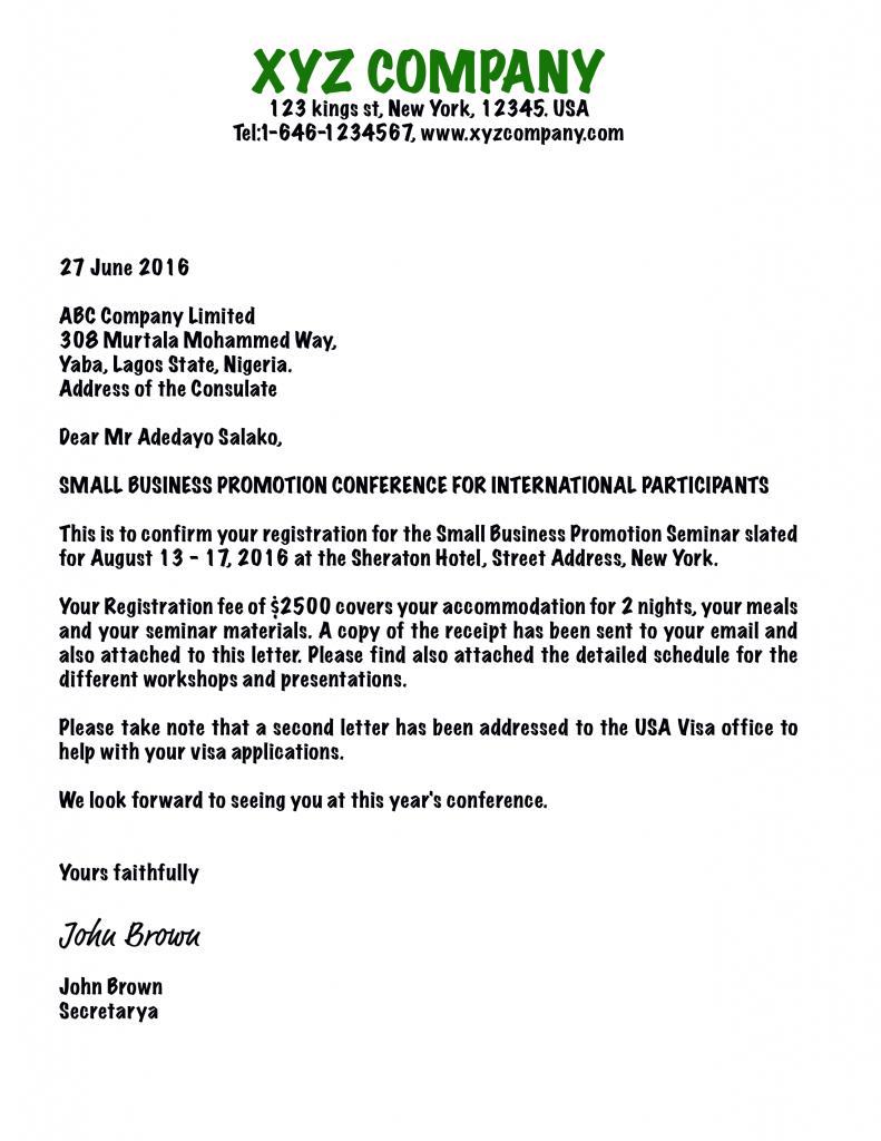 Sample Invitation Letter Schengen Visa Image collections