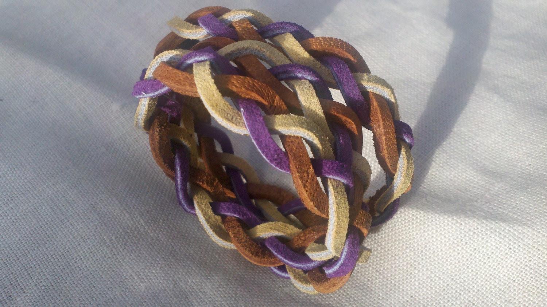 Coronatus. Braided Leather Multi-Wrap Bracelet. Multi Colors Available