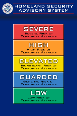 Homeland Security Advisory System scale.