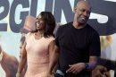 """Actor Denzel Washington and his wife Pauletta Washington arrive for the premiere of the movie """"2 Guns"""" in New York"""