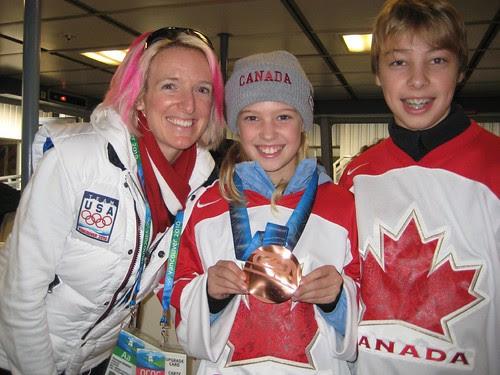 kids + bronze medal