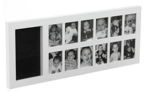 Baby Art First Year Print Frame Kit White