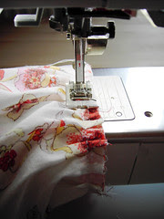 19 - sew cuff to gathered sleeve