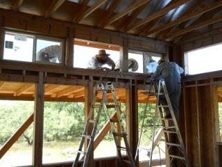 House Installing Pony Wall Windows