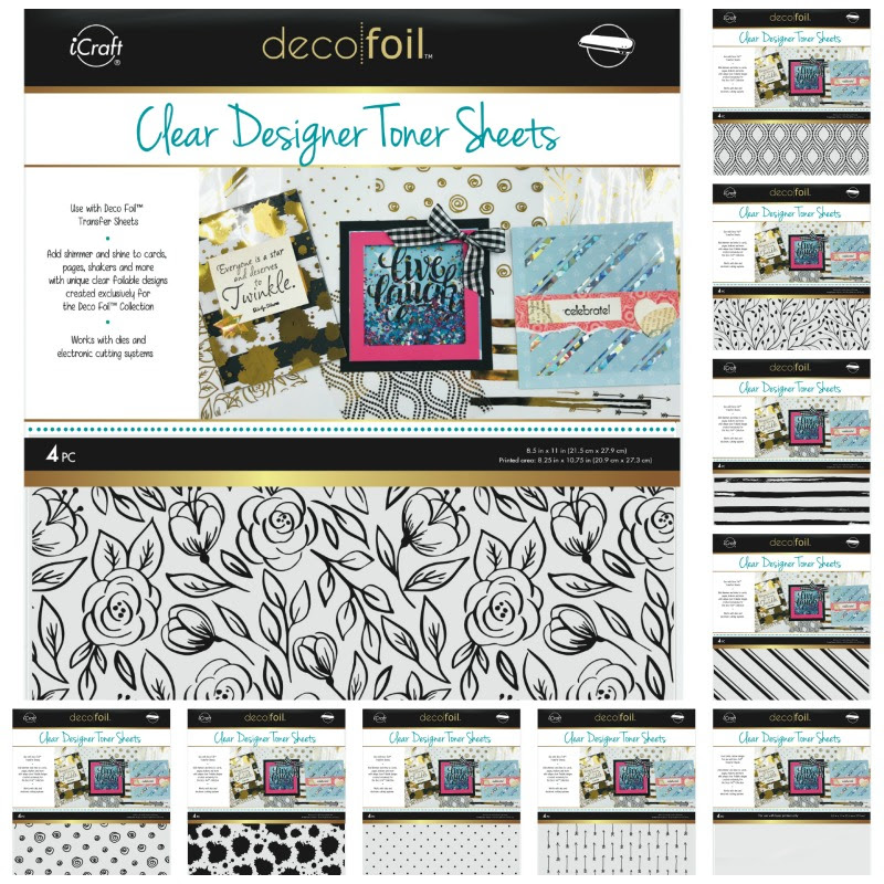 Deco Foil Clear Designer Toner Sheets