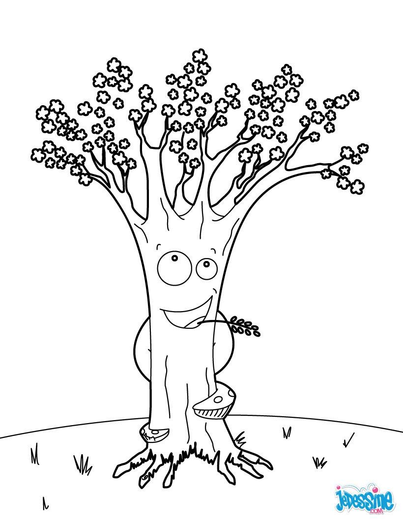 L arbre en coquilles d œufs Coloriage Cerisier en fleurs