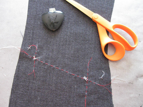 Pocket marking basted