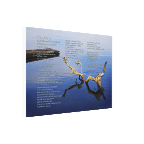 Desiderata Verses on Lakes Edge abstract Stretched Canvas Prints