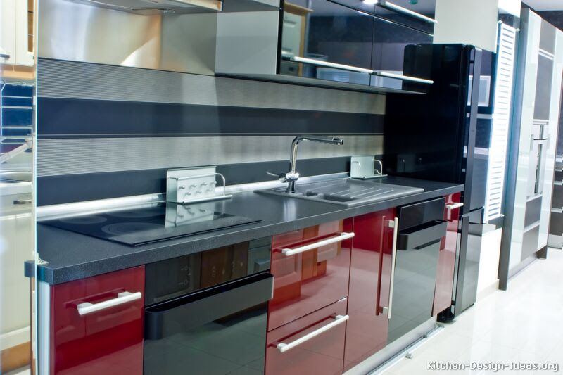 Amazing Black And Red Modern Kitchen 800 X 533 62 Kb Jpeg
