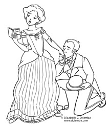 dulemba: Coloring Page Tuesday Romance Reader