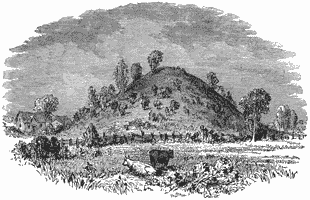 Drawing of unexcavated mound
