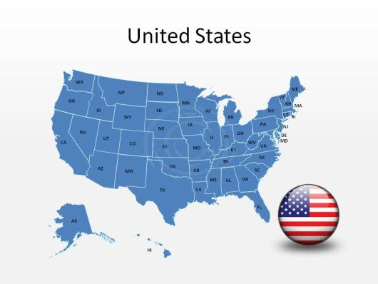 Map Of Usa Editable For Powerpoint | dafytk
