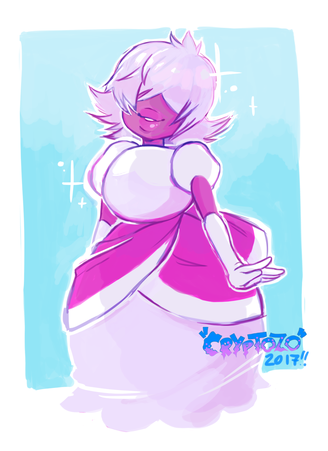 Doodling after watching the new eps and ended up colouring them in a way inspired by @queerdraws art cause i thought the soft pretty colouring would suit Padparascha ________ Please consider donating...