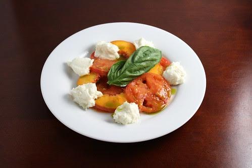 Peach-Tomato Salad with Burrata