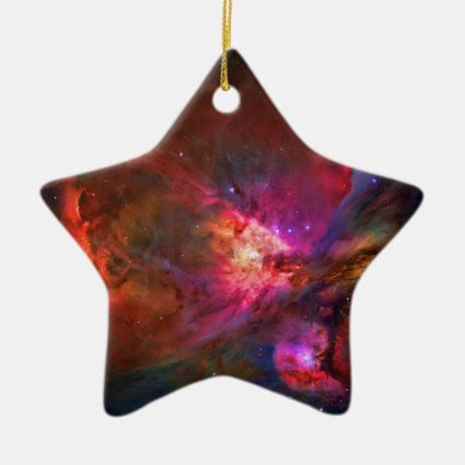 Orion Nebula and Trapezium Stars Christmas Ornaments
