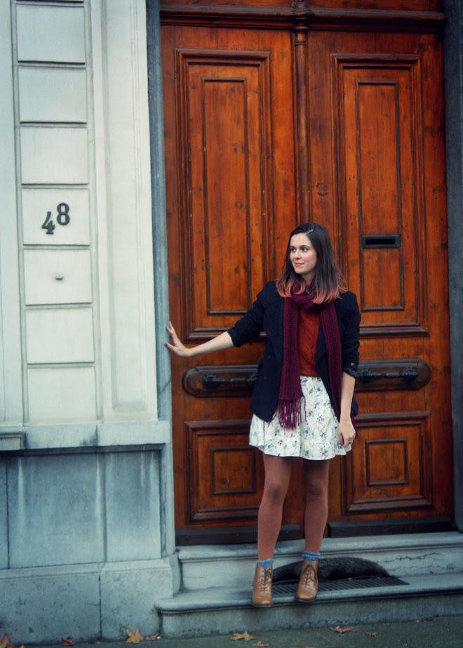 Big Door, Fall Floral