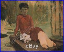 Ecole Vietnamienne 2 Indochine Nguyen Thu 1930 2 Huile Sur Toile