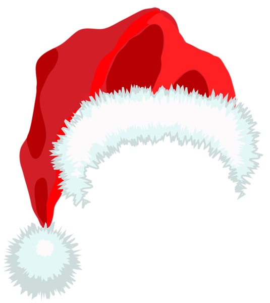 transparent santa hat clipart black and white - Clipground