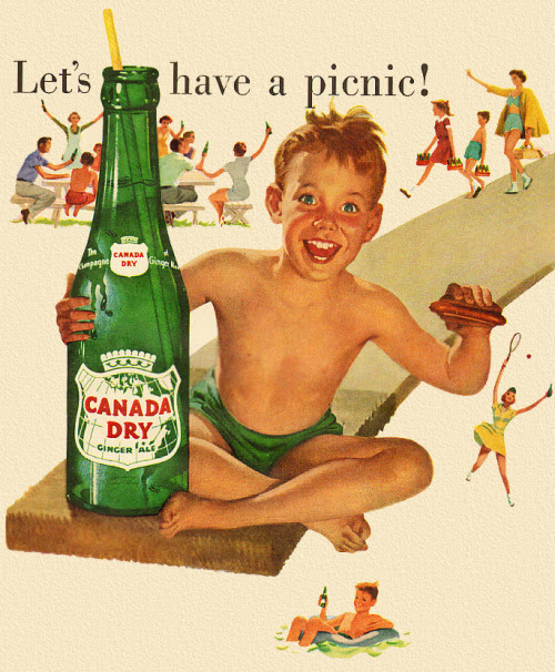 Let's Have a Picnic!  Detail from 1952 Canada Dry ad.