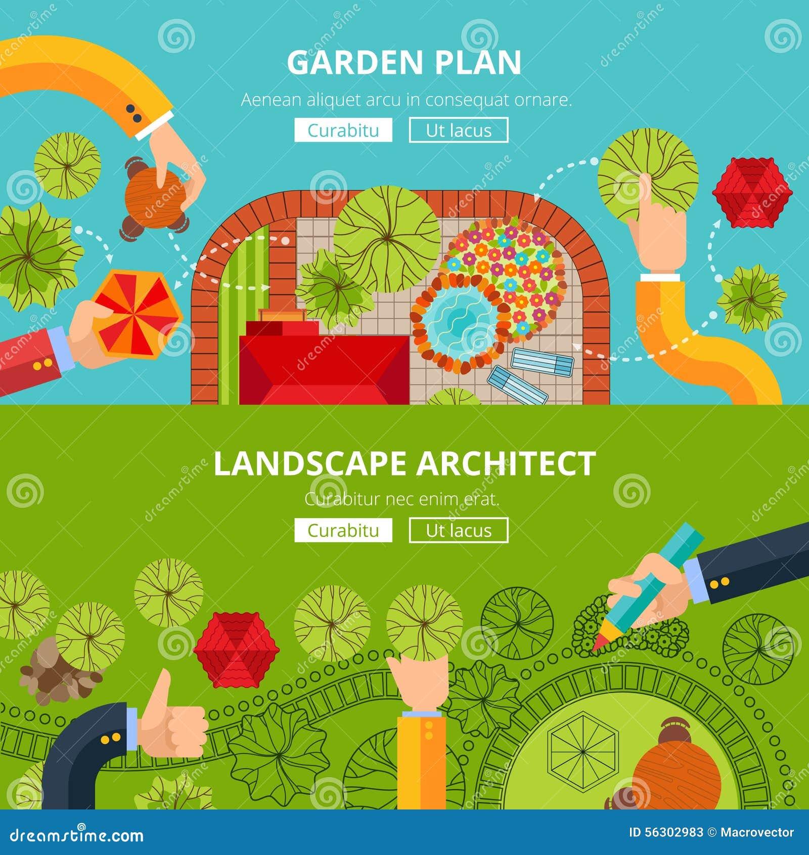 landscape garden design concept poster online city creative software tools professional architect internet site homepage layout 56302983