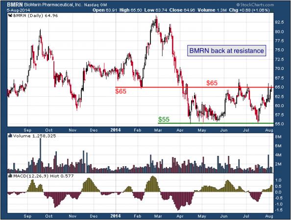 1-year chart of BioMarin (Nasdaq: BMRN)