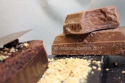 Cake al cioccolato con cuore al gianduja