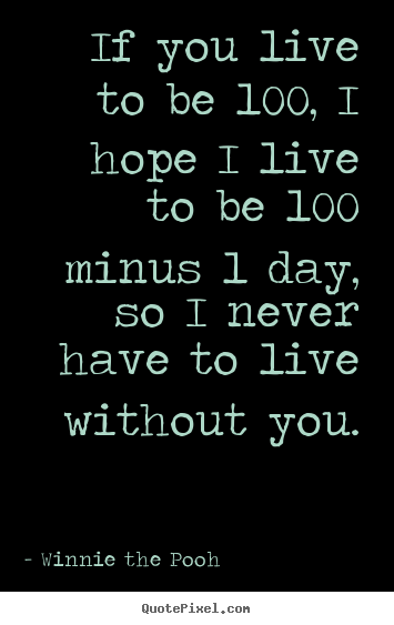Winnie The Pooh Quote If You Live To Be 100 Archidev