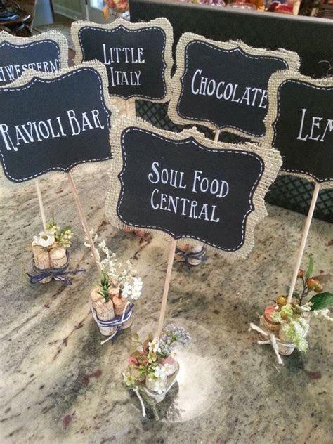 Custom Order for TEN Mini Chalkboard Signs for Food