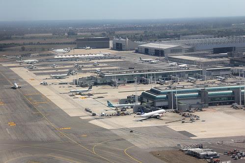 Rome-Fiumicino Airport view