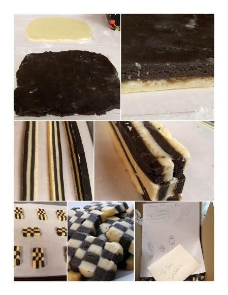 checkerboard collage