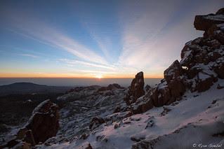 Sunrise on Mount Kenya