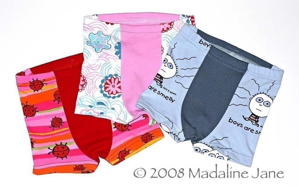 3pk Childrens Boxer Briefs, Custom Size 2-6