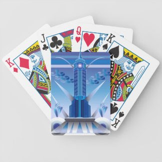 Art Deco Building Design on Playing Cards