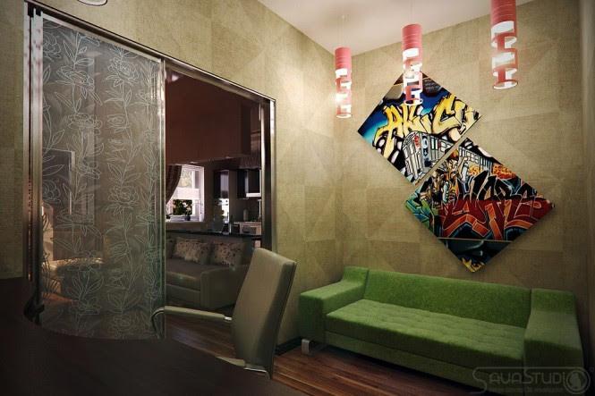 Graffiti inspired interior design