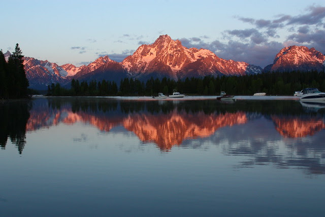 Alpen Glow on Mt. Moran