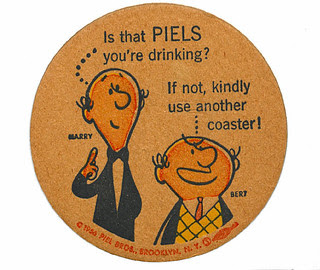 Piels beer coaster: Bert & Harry