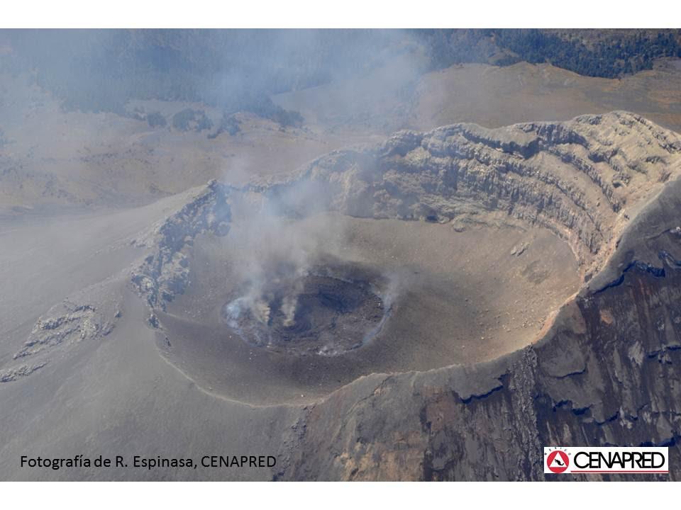 Le dôme de lave du volcan Popocatepetl
