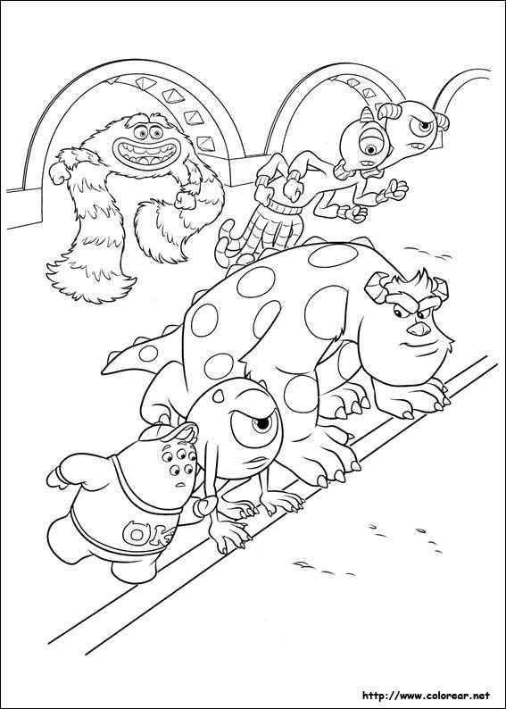 Dibujos De Monstruos University Para Colorear En Colorearnet