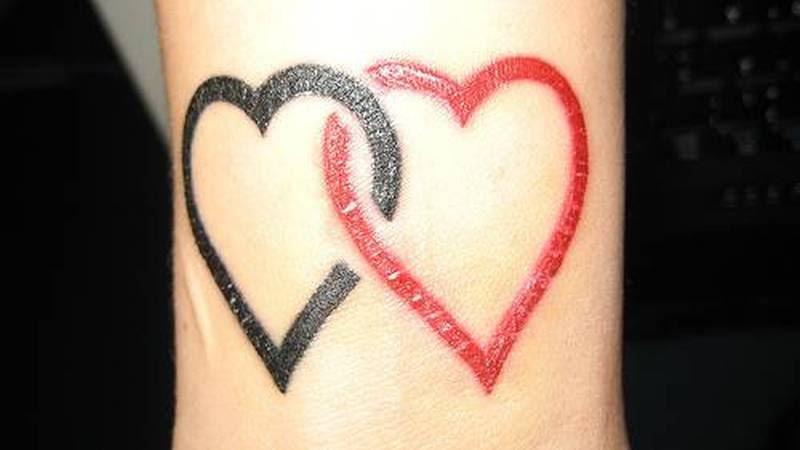 Black Red Heart Tattoo Designs Tattoos Book 65000 Tattoos Designs