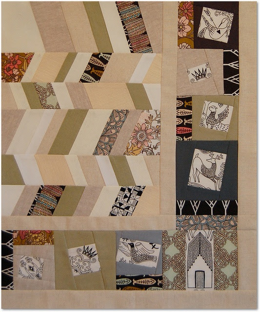 The Traveling Quilts Bee - my addition to Heather's block by Happy Zombie, via Flickr