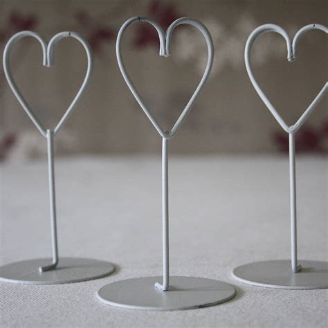 set of eight heart name place holders white / gold by the