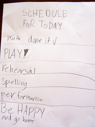 kid to do list, list, Be happy and go home