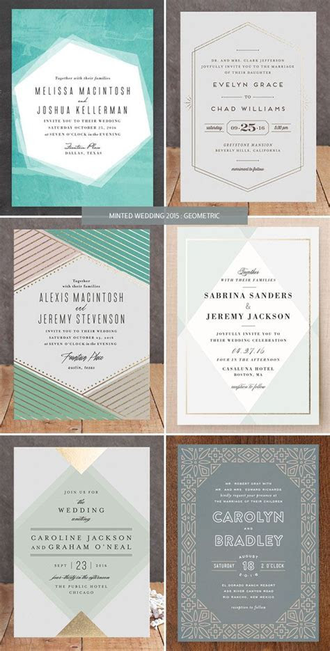25  best ideas about Modern wedding invitations on