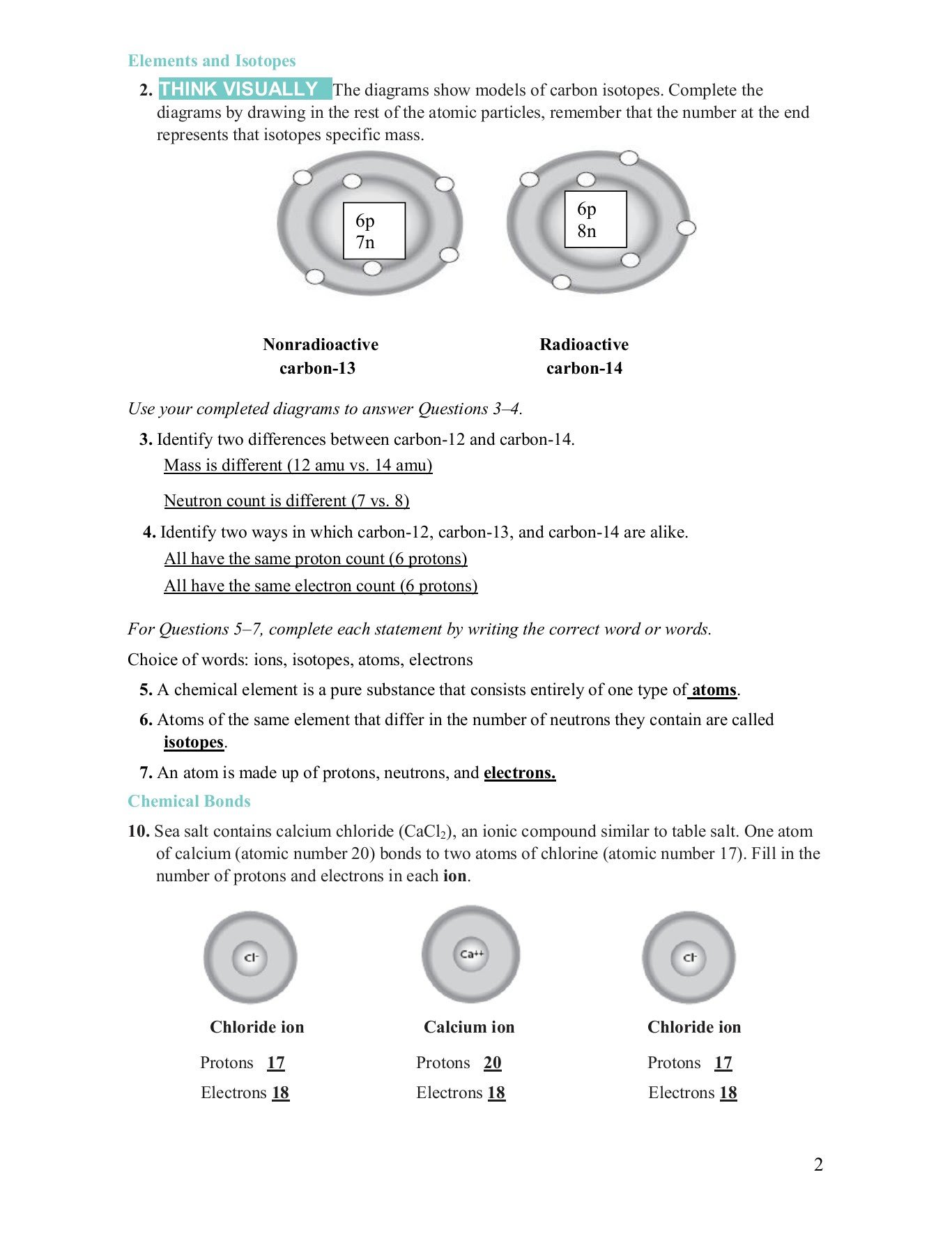 Types Of Chemical Bonds Worksheet Answers Cacl2 ...