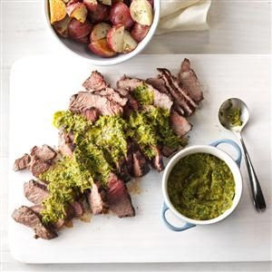 Steak with Chipotle-Lime Chimichurri Recipe | Taste of Home