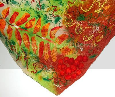 Nuno Felted scarf wrap Rowanberry