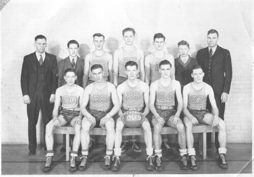 1938-1939 Westfield Wisconsin Basketball Team
