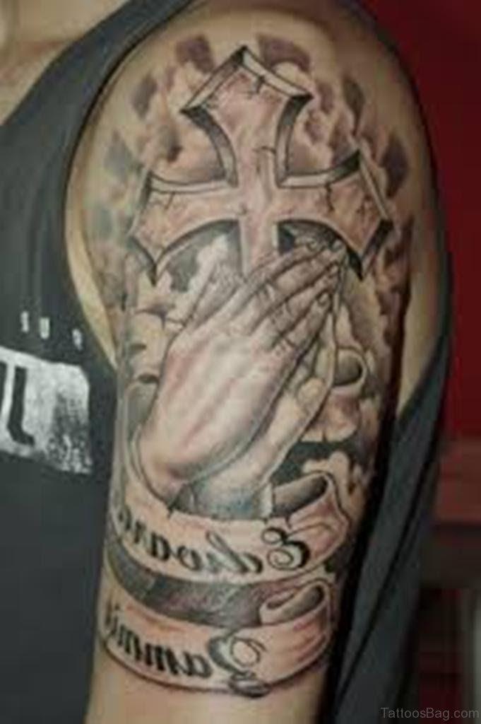 50 Excellent Praying Hands Tattoos For Shoulder